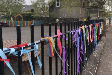 Colourful show of support for school staff