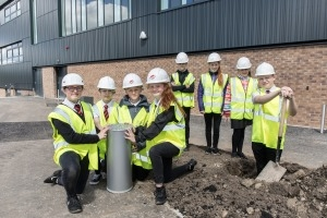 Time capsule buried at new West Calder High School Icon