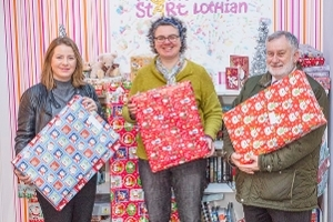 West Lothian Council Voluntary Organisations Policy Development and Scrutiny Panel donate festive hampers to Home-Start  Icon