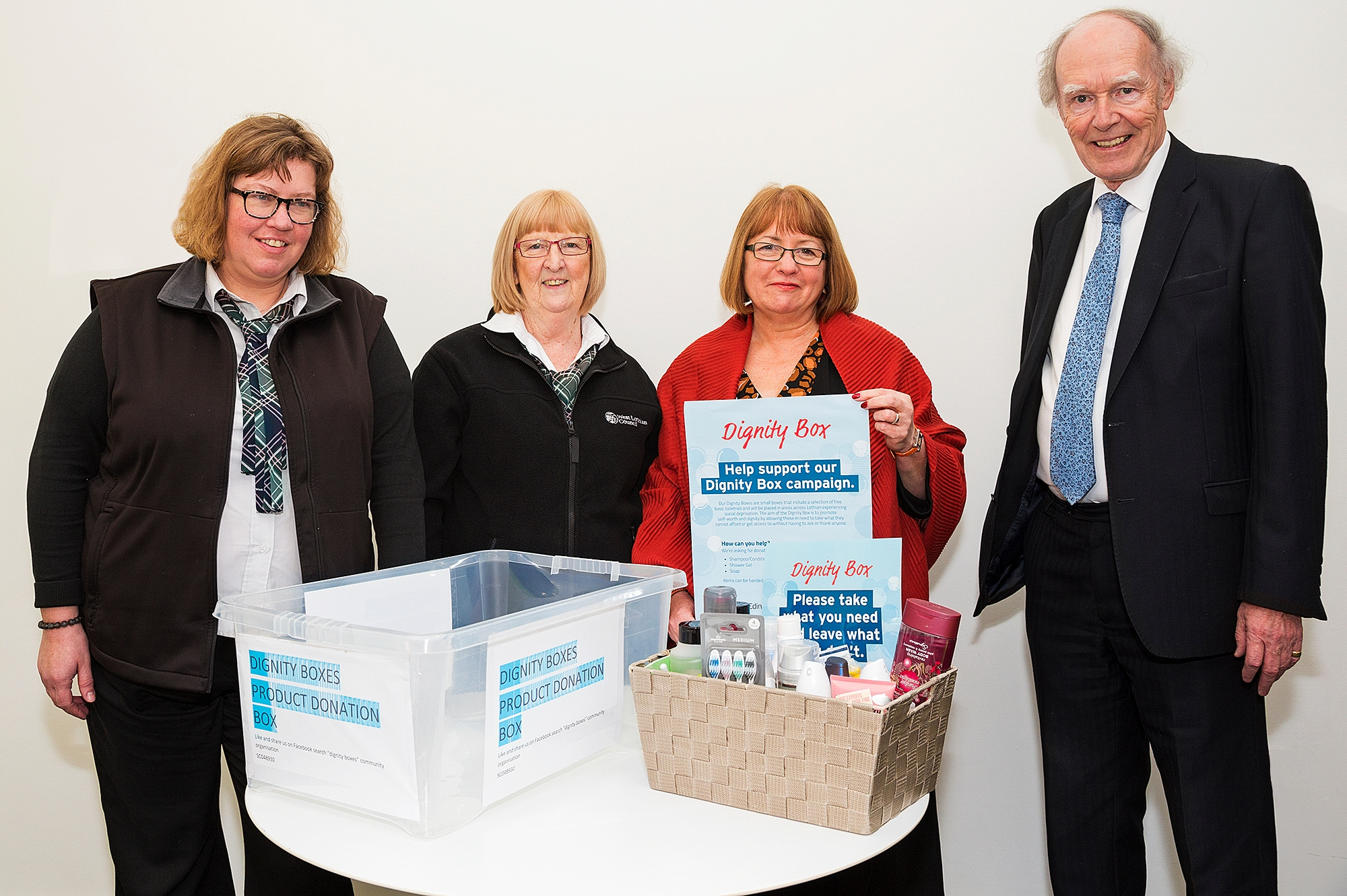 Dignity Boxes arrive in West Lothian  Icon