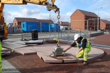Work starts on Winchburgh town centre art