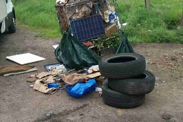 Here's the latest fly tipping mess that our teams have been out to remove. Icon