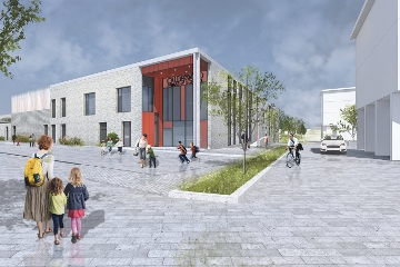 Draft impression of the new school at Calderwood
