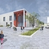 Draft impression of the new school at Calderwood  Icon