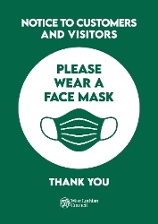 Please wear a face mask or covering when visiting council buildings Icon