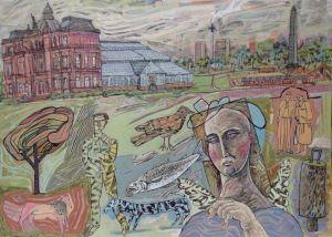 Take a virtual tour of striking new art exhibition at Linlithgow Burgh Halls