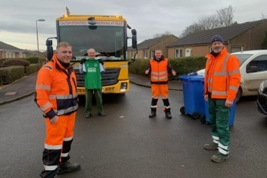 Waste crew achieves goal of brightening up resident's Christmas Icon